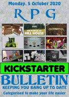 RPG Kickstarter Bulletin 5th October 2020