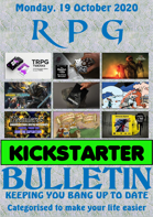 RPG Kickstarter Bulletin 19th October 2020