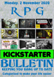 RPG Kickstarter Bulletin 2nd November 2020