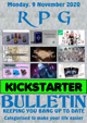 RPG Kickstarter Bulletin 9th November 2020
