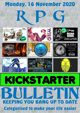 RPG Kickstarter Bulletin 16th November 2020