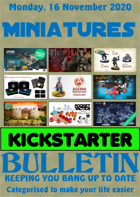 Miniatures Kickstarter Bulletin 16th November 2020