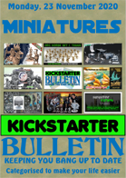 Miniatures Kickstarter Bulletin 23rd November 2020