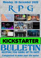 RPG Kickstarter Bulletin 28th December 2020