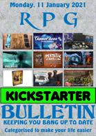 RPG Kickstarter Bulletin 11th January 2021