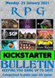 RPG Kickstarter Bulletin 25th January 2021