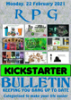 RPG Kickstarter Bulletin 22nd February 2021
