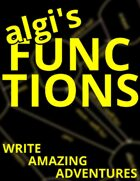 algi's Functions: Write Amazing Adventures