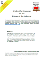 SM15 A Scientific Discourse on the Nature of the Universe