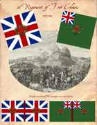 1780-1802 British 55th Regiment Flags