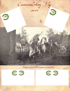 1781-1783 Continental Flags