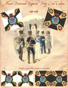 1814-1820 Hesse-Darmstadt Prinz Emil Regiment Flag