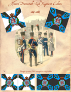 1814-1864 Hesse-Darmstadt Leib Regiment Flag
