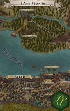 """Lake Fjorim"" Lake City Landscape Map"