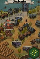 """Gedoria"" Mountain Farm Town Map"