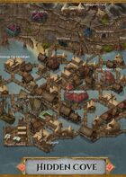 """Hidden Cove"" Pirate Bay Village Map"