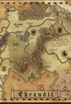 """Ehrendil"" Continent World Map"