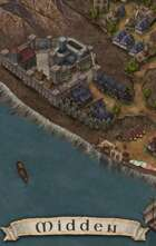 """Midden"" Coastal Fort Cliff Town Map"