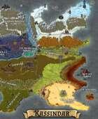 """""""Kassindar"""" Continent World Map"""