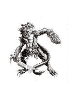 NerdGore Stock Art: Lizardman Warrior