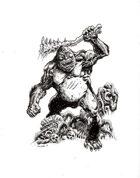 NerdGore Stock Art: Giant Ape / Sasquatch