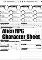 Alien RPG character sheet