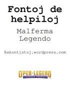Fontoj de helpiloj de Malferma Legendo