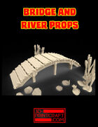 Asian-Style Simple Bridge and River Props