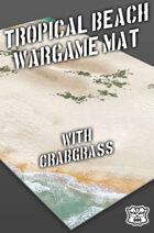 Tropical Beach w/grass Wargame Battle Mat