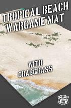 Tropical Beach w/grass Wargame Battle Mat