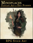 Female Elf Druid Stock Character Art