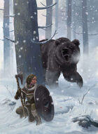 Full Page RPG Cover art - Winter Bear Hunt