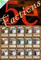 Afatasi's 5e Factions (Poker-sized)
