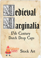 Medieval Marginalia - Dutch Drop Caps - STOCK ART