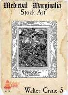 Medieval Marginalia - Walter Crane #5 - FULL PAGE STOCK ART