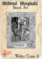 Medieval Marginalia - Walter Crane #6 - FULL PAGE STOCK ART