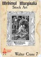 Medieval Marginalia - Walter Crane #7 - FULL PAGE STOCK ART
