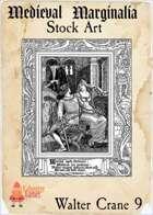 Medieval Marginalia - Walter Crane #9 - FULL PAGE STOCK ART