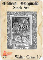Medieval Marginalia - Walter Crane #10 - FULL PAGE STOCK ART