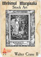 Medieval Marginalia - Walter Crane #11 - FULL PAGE STOCK ART