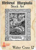 Medieval Marginalia - Walter Crane #12 - FULL PAGE STOCK ART