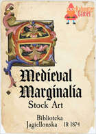 Medieval Marginalia - Illuminated Capital E - STOCK ART