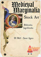 Medieval Marginalia - Illuminated Capital O - STOCK ART