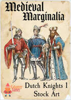 Medieval Marginalia - Dutch Knights 1 - STOCK ART