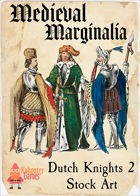 Medieval Marginalia - Dutch Knights 2 - STOCK ART