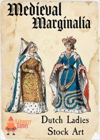 Medieval Marginalia - Dutch Ladies - STOCK ART