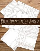 5e Vital Information Sheets