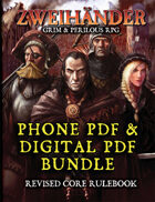 ZWEIHANDER Grim & Perilous RPG: Revised Core Rulebook (Phone PDF + Digital PDF)