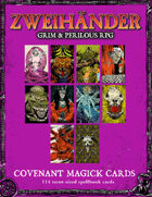 ZWEIHANDER Grim & Perilous RPG: Covenant Magick Cards