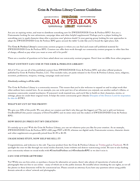 Grim & Perilous Library Content Guidelines (Grim & Perilous Library) - Templates for Zweihander RPG